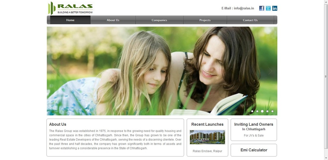 Ralas Group - Website Designing